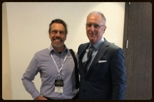 Kent Clothier Sr with a client