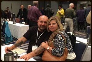 Clients at Orange County event