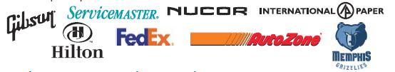 Logos of Memphis companies